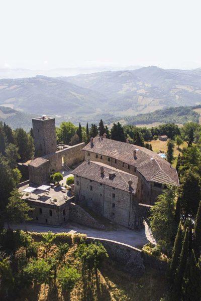 Castello di Petroia dall'alto